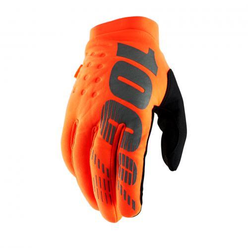 100% brisker handschoenen fluor orange