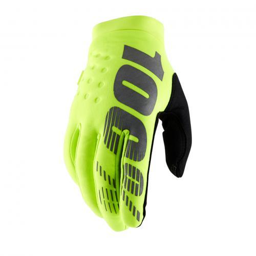 100% brisker handschoenen fluo yellow