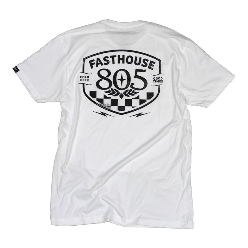 FASTHOUSE T-SHIRT 805_PITSTOP_WHITE