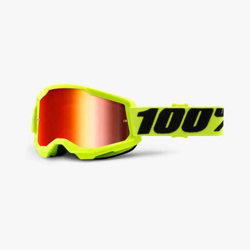 100% Strata 2 crossbril goggle YELLOW