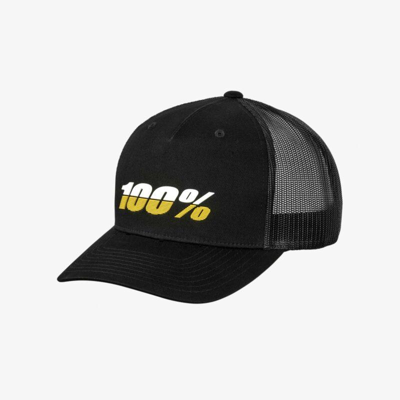 100% pet LEAGUE X-Fit Snapback Black