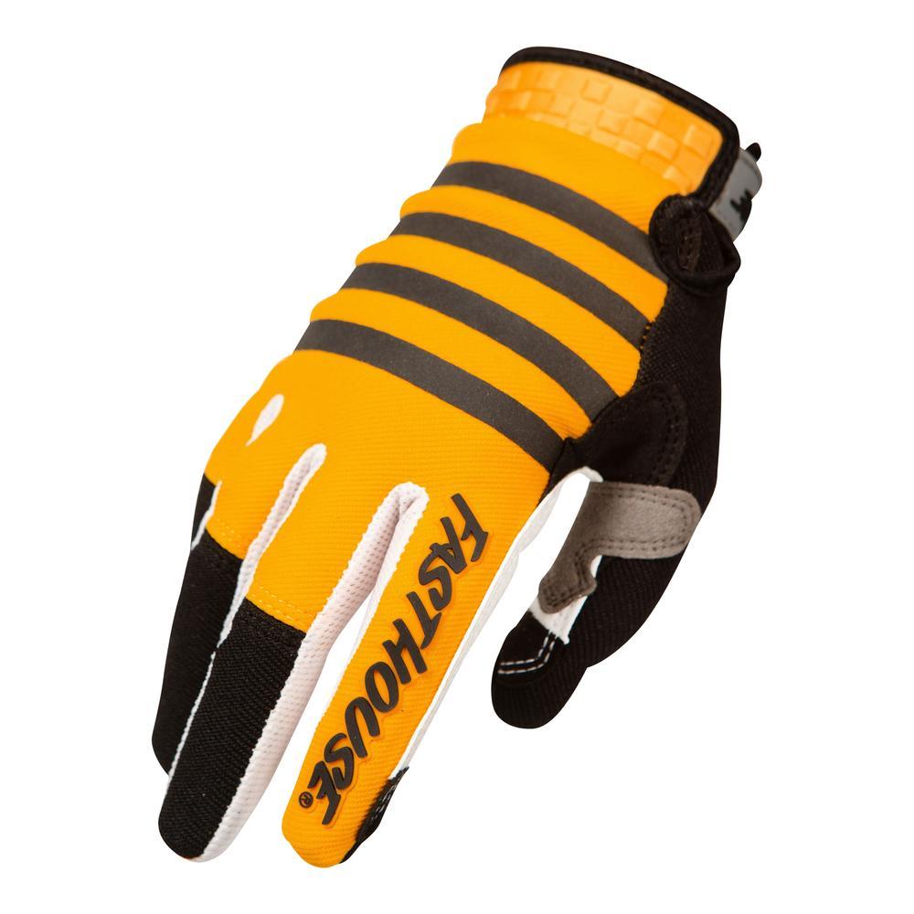 bmxprotect fasthouse bmx handschoenen speedstyle striper yellow