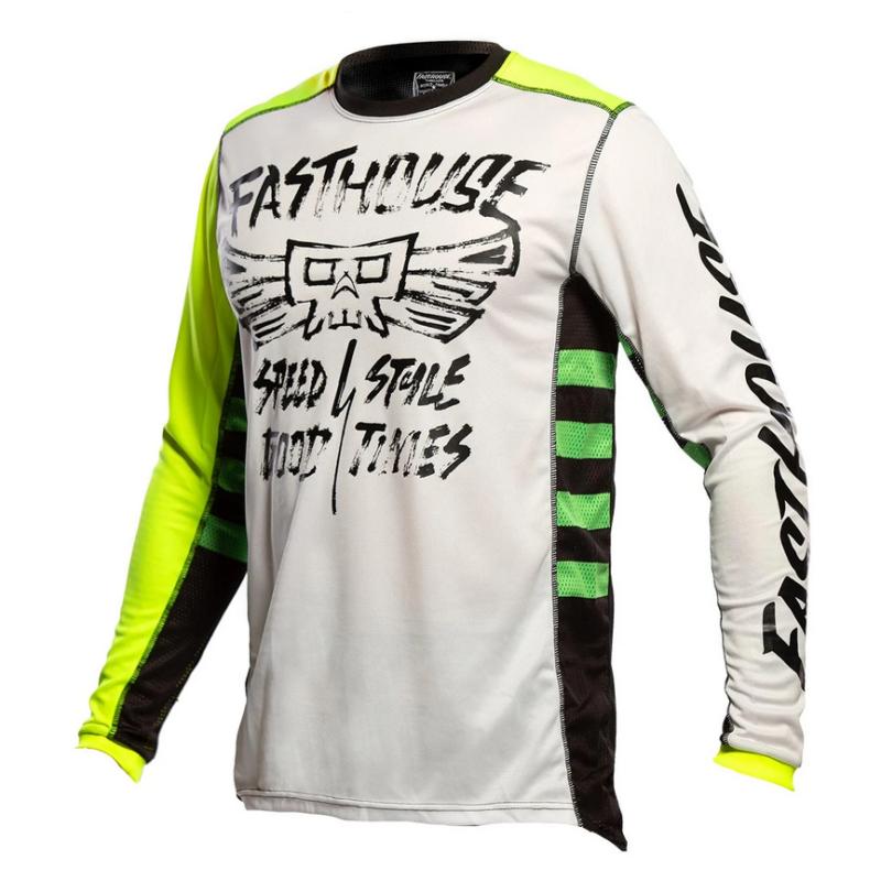 FASTHOUSE bmx shirt TRIBE White/Hi-viz front