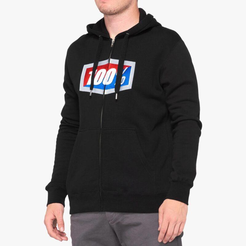100% OFFICIAL Hooded zip Sweatshirt BLACK