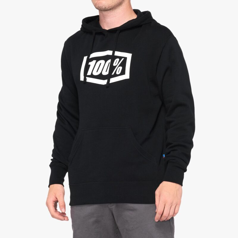 100% ESSENTIAL Hooded Sweatshirt BLACK