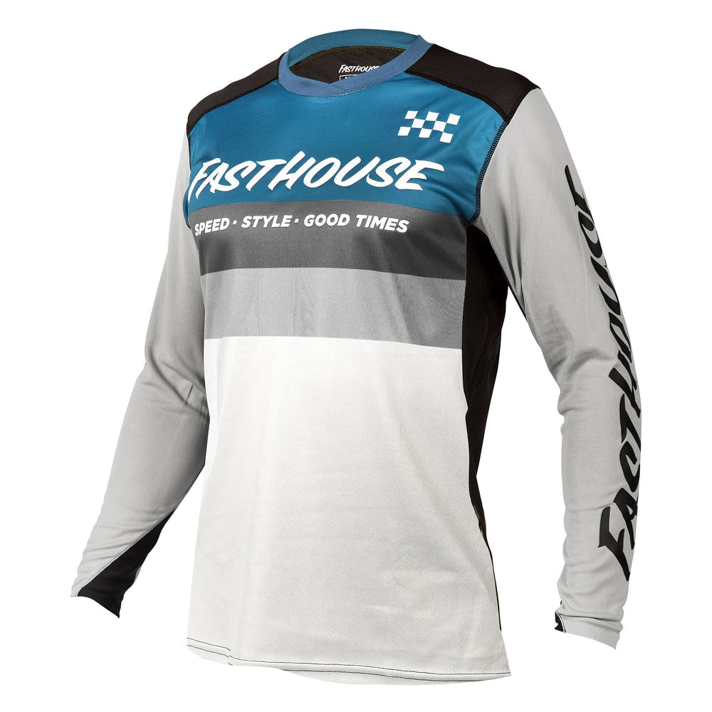 BMXProtect Raceshirt ALLOY KILO Slate/White