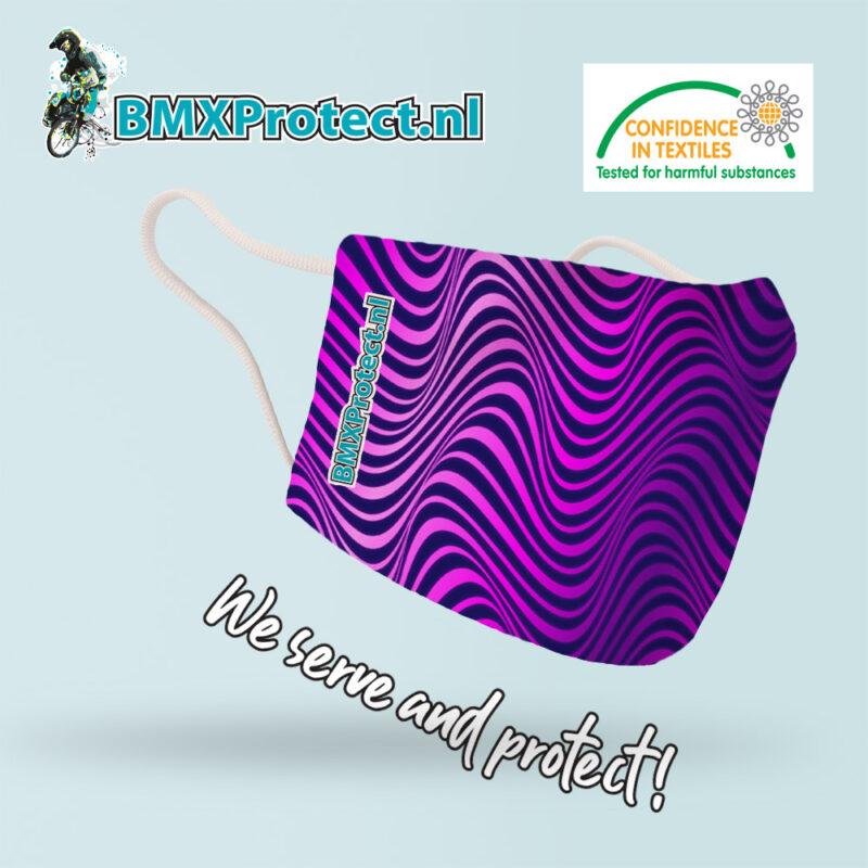 fashion mondkapje purple Psychedelic