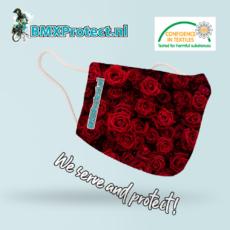 fashion mondkapje red roses